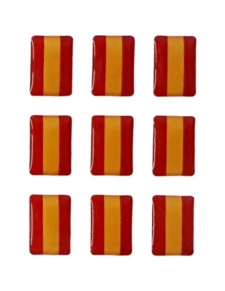 Pegatinas Mini Pack de 9 Bandera Española Relieve