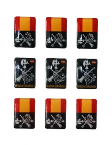 Pack Mini Stickers Spanish Legion Flag x9