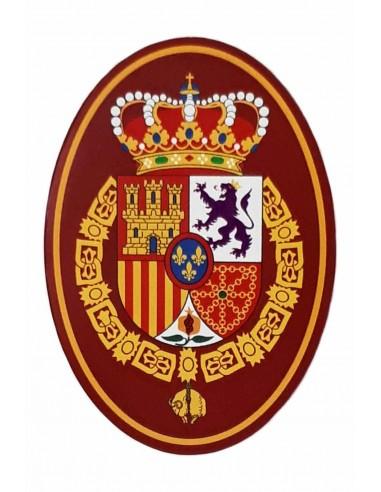 Pegatina Ovalada con el Escudo de Felipe VI Mediana
