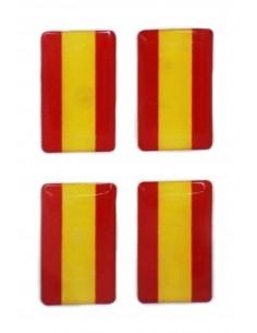 Pegatina Bandera España sin Escudo 4 unidades con volumen