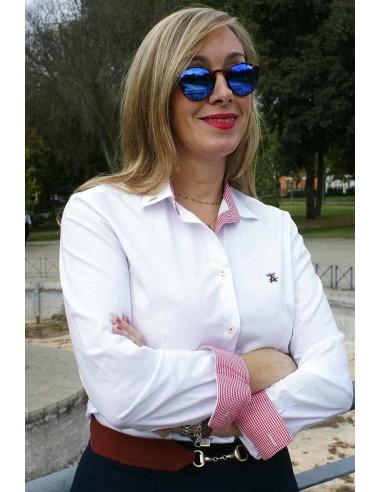 Camisa Mujer Blanca Bandera España