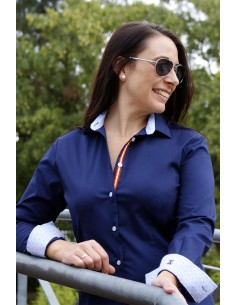 Shirt Woman Blue Navy Flag Spain
