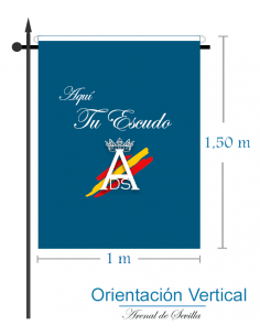 Bandera Raso Impresa Personalizada (Vertical)