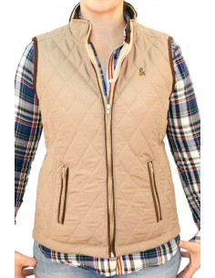 Beige Vest for Women Flag Spain