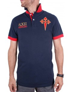 Santiago's Cross Polo Shirt - Navy Blue