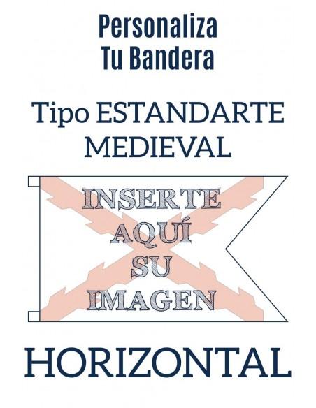Bandera Personalizada Tipo Medieval