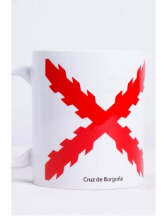 Burgundy Cross Mug