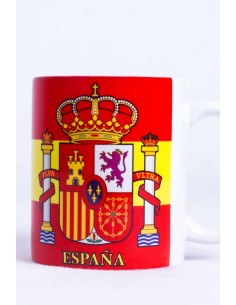 Spain's flag and badge cup