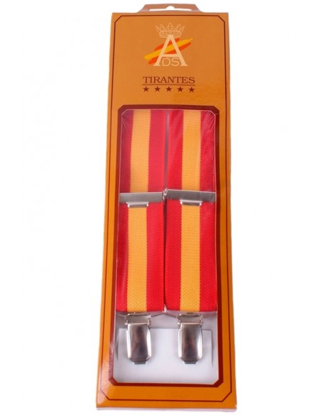 Spanish Flag Braces - Red and Yellow