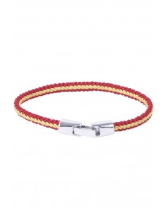 Braided Thread Bracelet - Red and Yellow