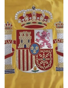 Manually Embroidered Spanish Flag