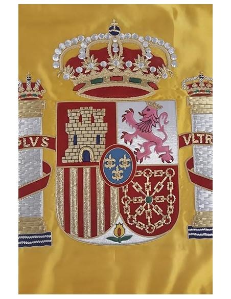 Bandera Espana Bordada a Mano