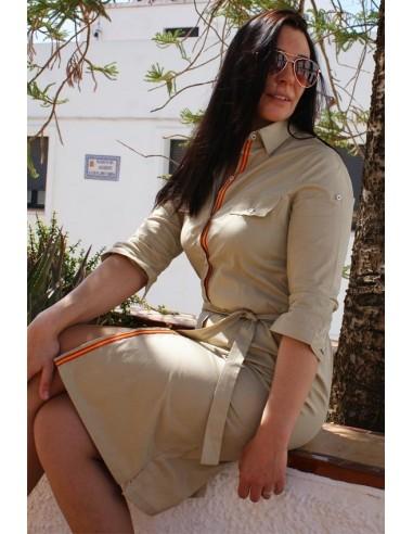 Vestido Camisero Camel Bandera España