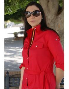 Vestido Camisero Rojo Bandera España