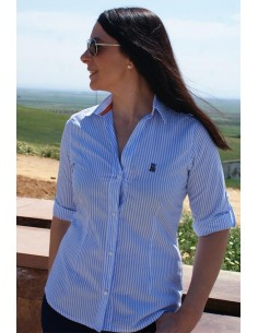 Striped Shirt - Light Blue and White