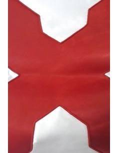 Bandera Cruz Borgoña Con Aplique