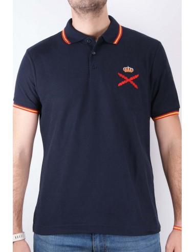 burgundy cross Men's Polo Shirt