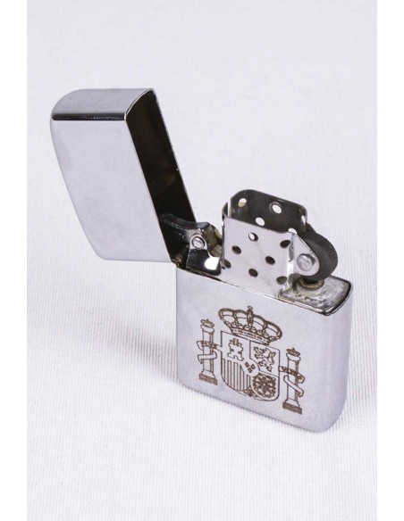 Zippo With the Shield of Spain Laser Engraving