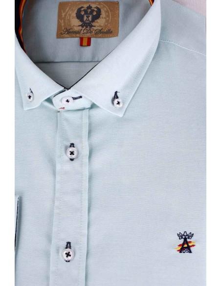 Camisa Hombre Oxford Verde Bandera España