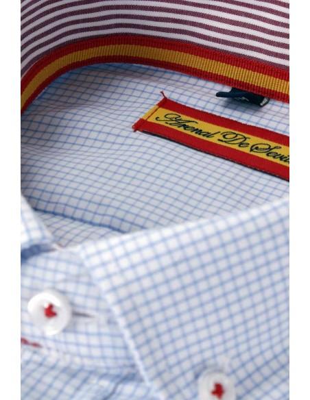 Camisa Hombre Cuadros con detalles Bandera