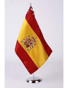 Spain Desktop Flag with Actual Shield