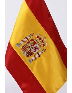 Spanish Embroidered Desktop Flag