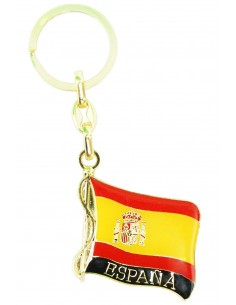 Spanish Flag Key Ring