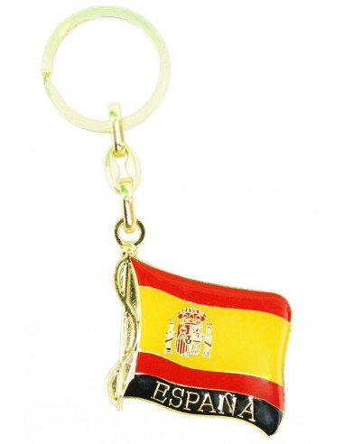 Spanish Flag Key Ring