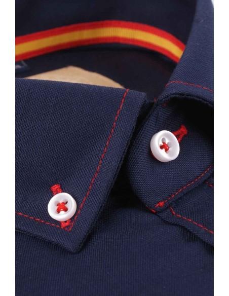 Camisa Hombre Oxford Marina Bandera España