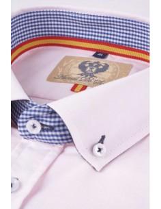 Camisa Hombre Oxford Rosa Bandera España