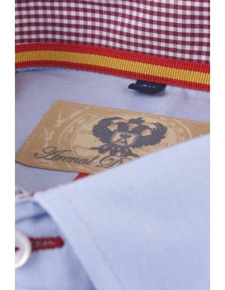 Camisa Hombre Oxford Celeste Bandera España