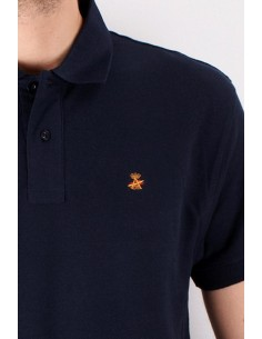 Basic Polo Navy Flag Spain