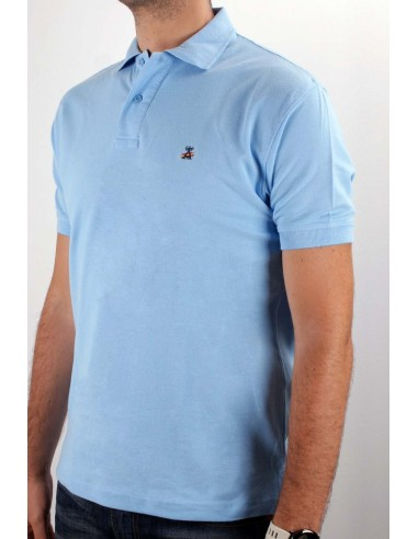 Basic Polo light blue Flag Spain