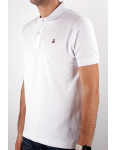 Basic Polo white Flag Spain