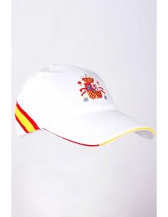 Gorra Blanca Escudo de España Bordado