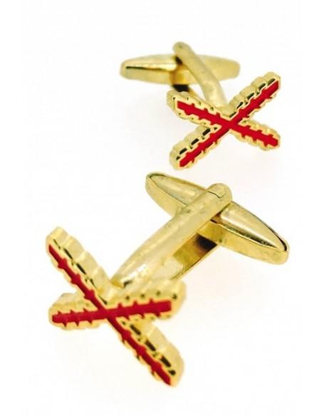 Cufflinks Cross Burgundy of San Andres