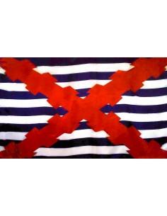 Bandera Pabellón Mercante Español en Flandes con Cruz Borgoña