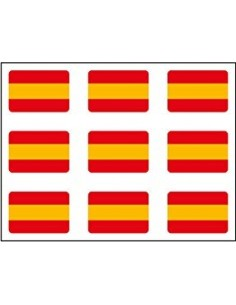 Spanish Flag Pack of Mini Stickers