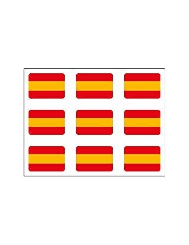 Spanish Flag Pack of Mini Stickers
