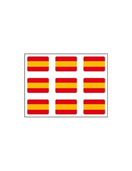 Pegatinas Mini Pack de 9 Bandera Española