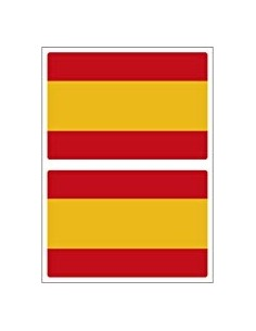 Pack of spanish flag sticker x2