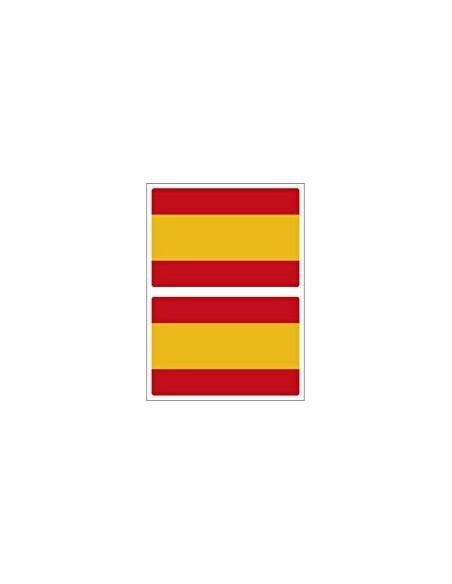 Pack Pegatina Mediana Bandera España Plana x2
