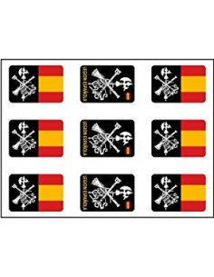 Spanish Legion Flags Pack of Stickers