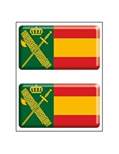 Pegatina Guardia Civil Relieve x2