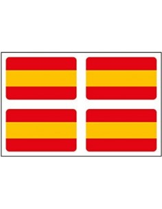 Without shield Spanish flag sticker x4