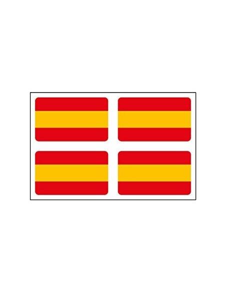 Pegatina Bandera España sin Escudo x4