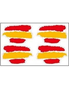 Pegatina Bandera España Manchas x4
