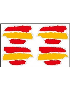 Spain flag sticker spots x4