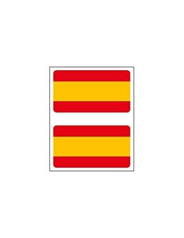 Pegatina Bandera España Relieve 2 Unidades