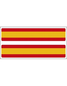 Spain's flag strip sticker